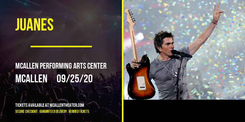 Juanes at McAllen Performing Arts Center