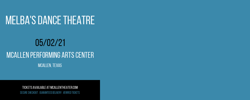 Melba's Dance Theatre at McAllen Performing Arts Center