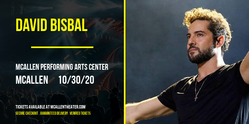 David Bisbal at McAllen Performing Arts Center
