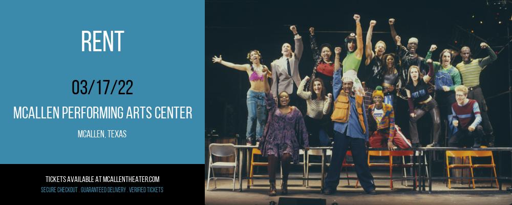 Rent at McAllen Performing Arts Center